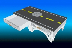City theme coffee table, AutoCAD. Designed in 1987, modeled in 2001.