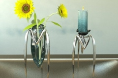 Vase and candle holder concepts. 3ds Max.
