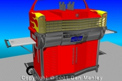 Cad-B-Que concept, one of a series designed in 1998. Modeled in AutoCAD in 2001.