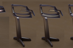 Variations on mid-century modern sculptural lamp concept. LED downlighting on arms.