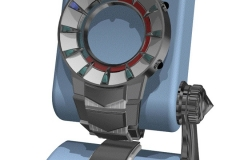 No-hands watch concept, modeled in 2001. AutoCAD.