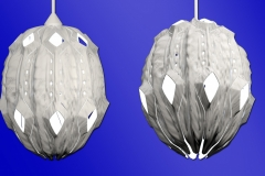 Organic or alien theme 3D printed hanging lamp concept.