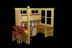 One of several architectural themed cubicle concepts.