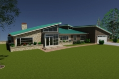 Beach house model, built in AutoCAD for refresher class in program, 2011. Won first place in CA State Fair.