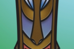 M for Manley tiki design. Illustrator and Photoshop.