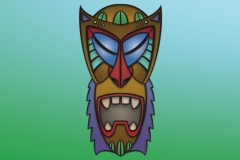 Monkey Tiki design. Illustrator and Photoshop.