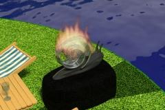 Snail firepit.
