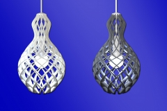 Ribbed 3D print lamp concept. 3ds Max.