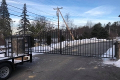 Completed gate.