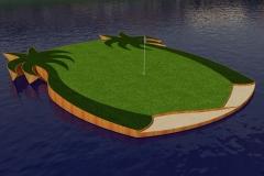 Dual-palm green render.