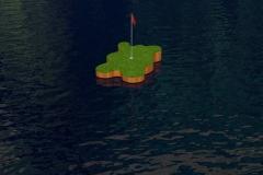 """Splat"" freeform green render."