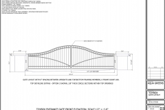 Gate elevation concept design blueprint, for Aquagreens. AutoCAD.
