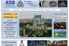 A3D website page artwork. Created models used in images, as well as graphics and layout.