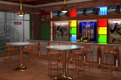 Sports-themed game show environment concept, 3ds Max.