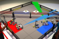 "Still from animation created for Vex Robotics ""Bridge Battle"" challenge demo video. For Applied Ideas. 2008."