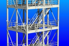 Webpage illustration of crane-liftable tower for cleanroom company. AutoCAD, 2005.
