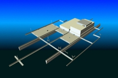 Webpage illustration of grid system, for cleanroom company. AutoCAD, 2004.