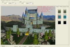 Interactive interface for A3D website, showing castle and terrain created for demo.