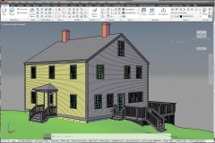 AutoCAD model of client's home for visualization of remodel changes and blueprint production.