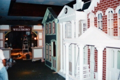 "Buildings 11'-6"" tall, had lights inside, entire top was open. All hand painted inside and out."