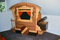 Puppet theater built as part of large 3-bed castle room.