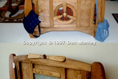 Airplane themed bed. With cast resin insert, could be back lit. Sold many of these.
