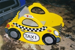 Taxi rocker, one of a series of simple rockers in vehicle themes.
