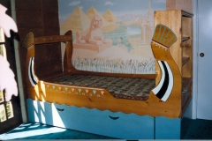 "Egyptian themed bed for star of ""designing women."""