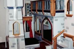 Complex 3-mattress castle bedroom set.