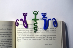 """Monstermarks"" 3D printed bookmarks."