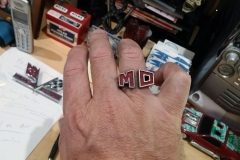MD ring. 3ds Max model, 3D printed in nickel steel.