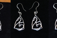 Earrings to match art nouveau style pendant.