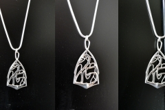 Additional 25th anniversary pendant, Art Nouveau style.