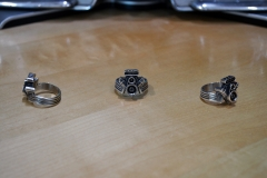 Supercharged V8 ring, modeled in 3ds Max, 3D printed in silver.