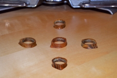 Experimenting with rings, using Ironwood sent as gift. 2nd project.