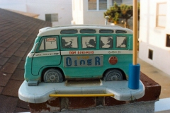 VW Bus diner birdfeeder, wedding gift to my cousin Don and his wife.
