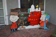Built Linus addition for our Peanuts display, here set up in Christmas mode.