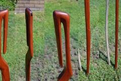 Mid century modern walking stick details.