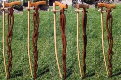 Organic Flame themed cane, walnut and curly maple.